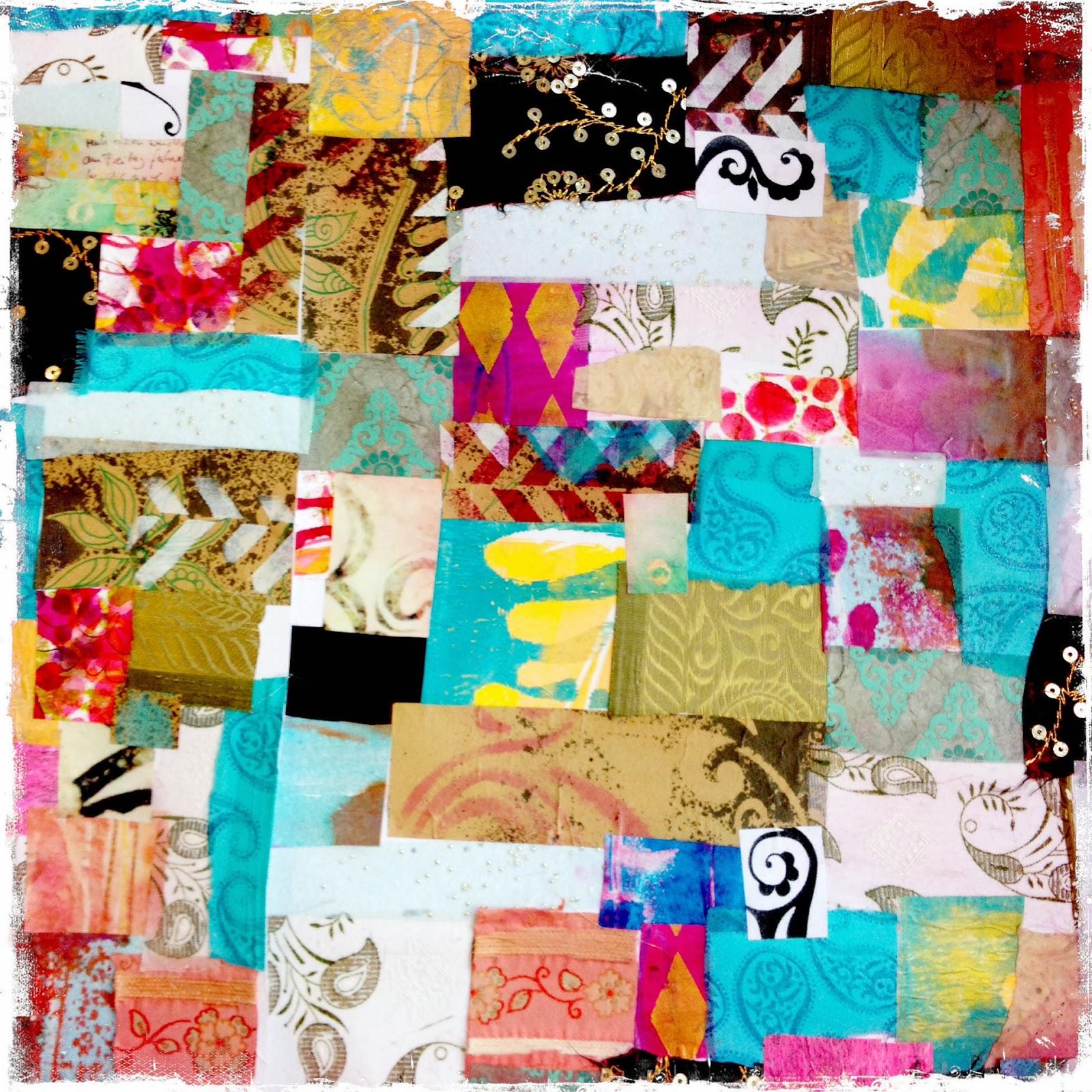 sandra lenuweit mixed media design: Collage - Botschaften