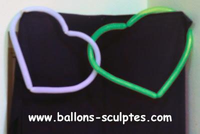 coeurs entrelacés en ballons