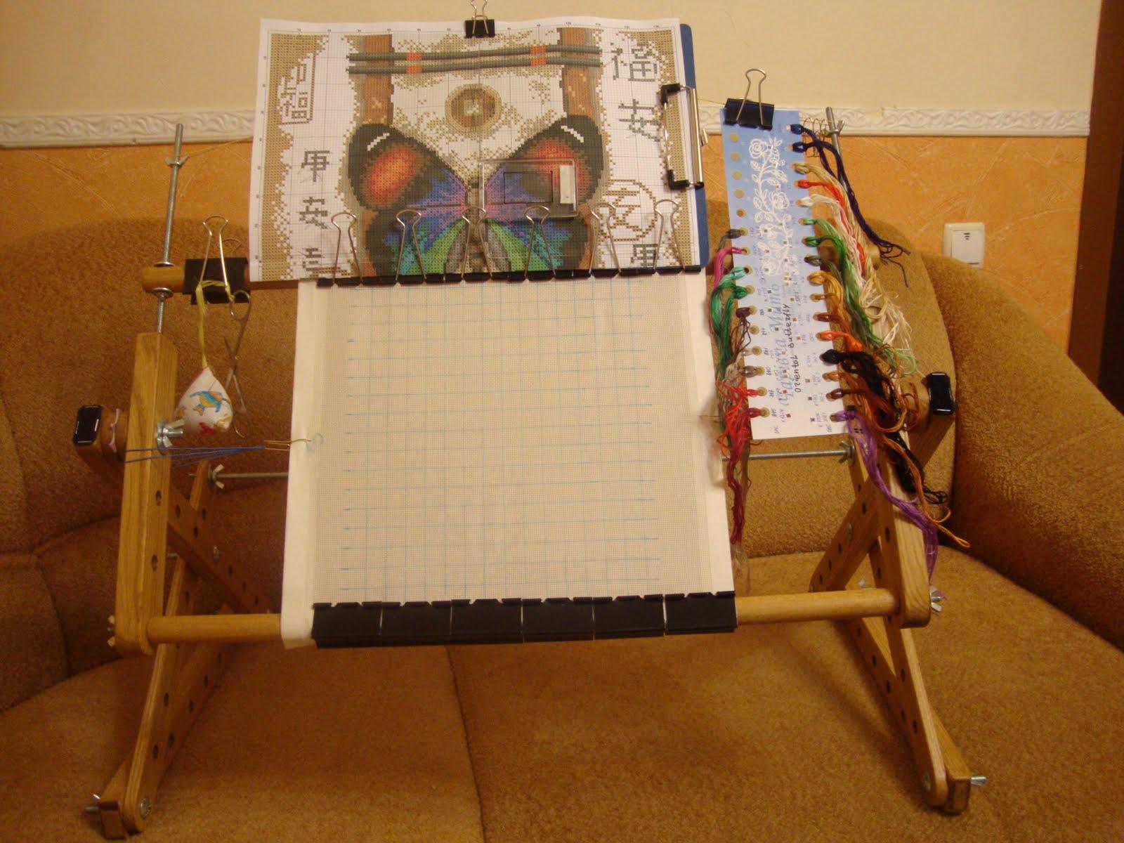 Станок для вышивки на ткань