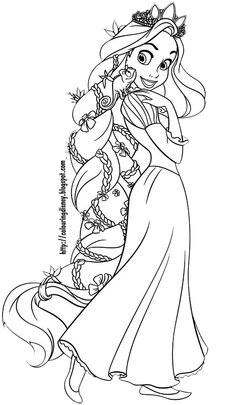 Free Rapunzel Para Colorear Coloring Pages