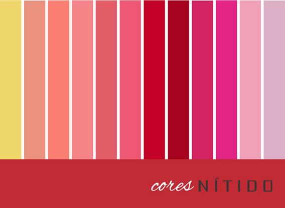 Paleta de cores Verão 2016 da Nítido