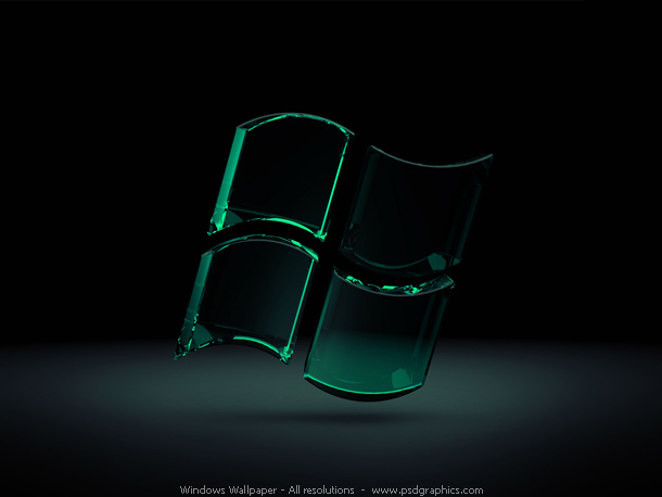 The nices wallpapers wallpaper black 3d for Fenetre 3d windows 7