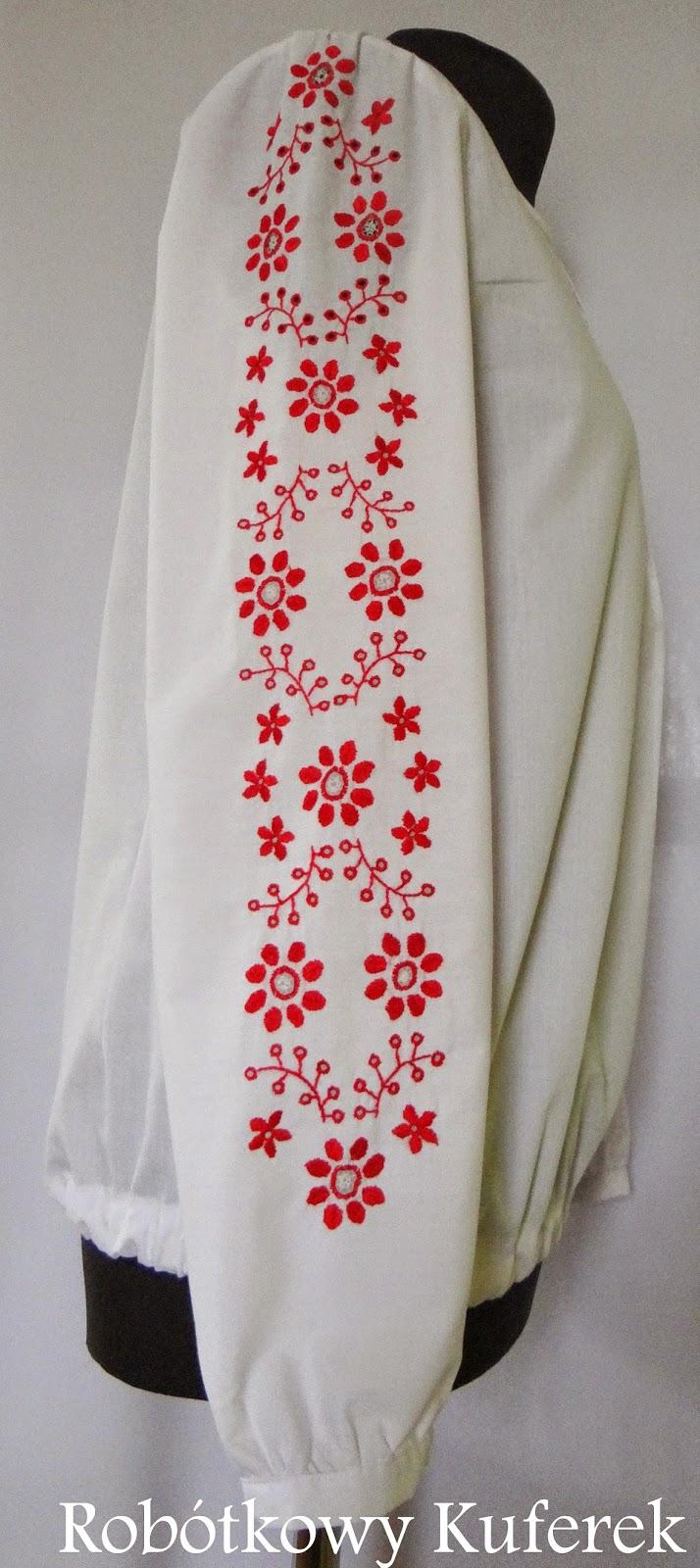 bluzka haftowana