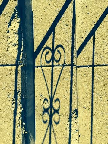 heart fence shadow