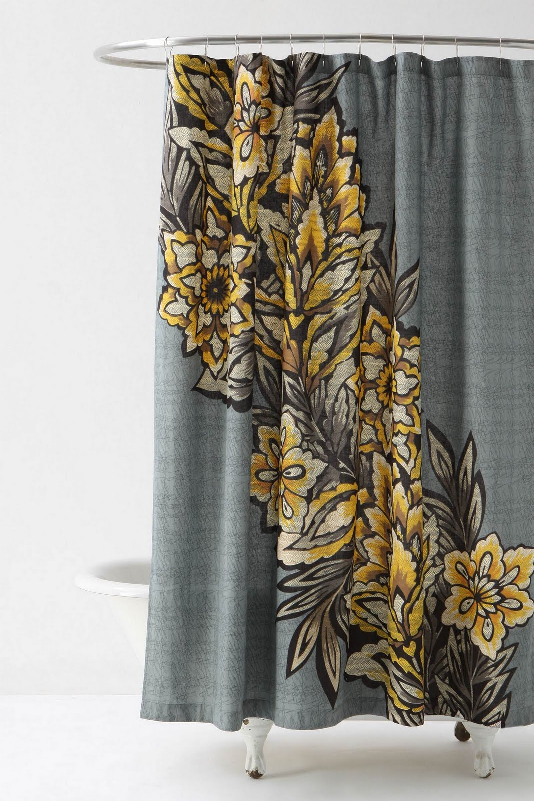 Anthropologie floral shower curtain -  Shower Curtain Refresh