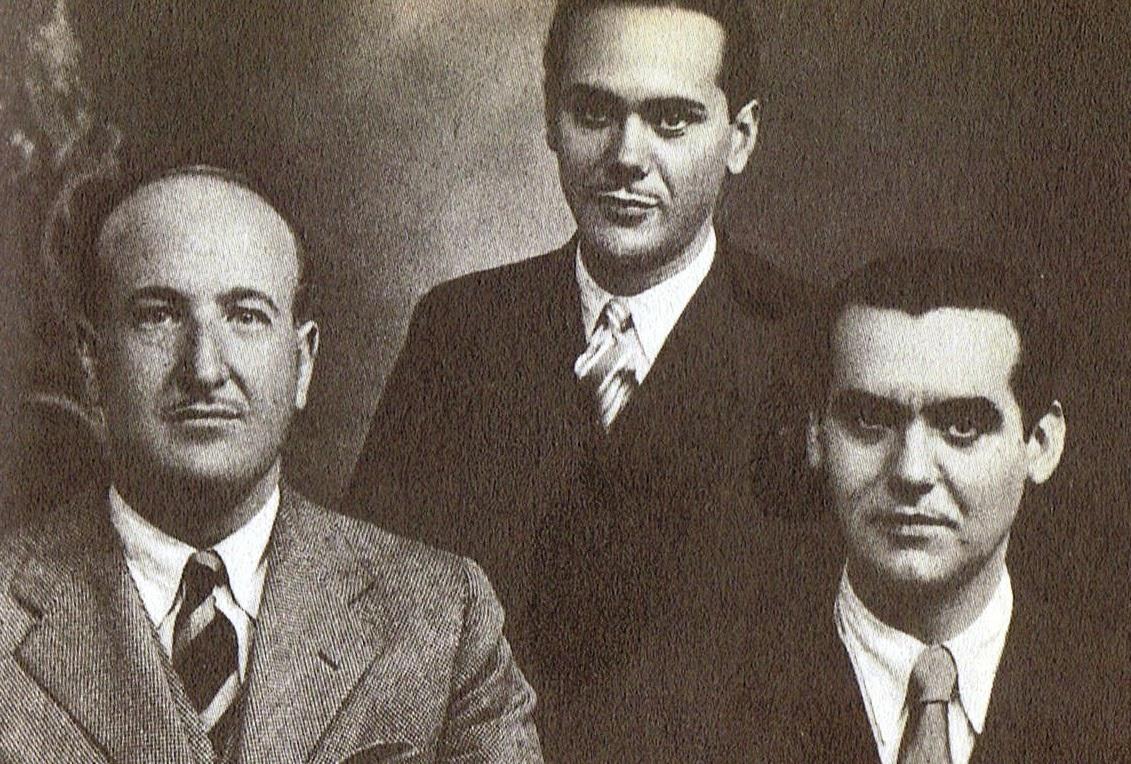 Lorca en 1931 con Aleixandrre y Cernuda