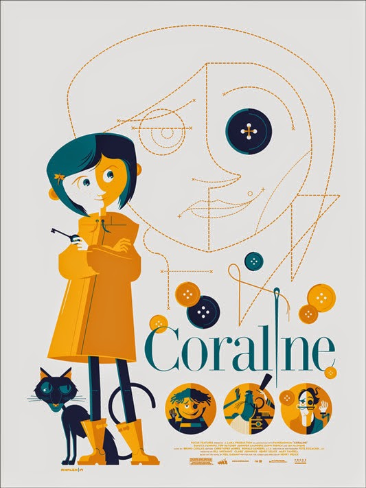 Mondo - Coraline Disney Screen Print by Tom Whalen