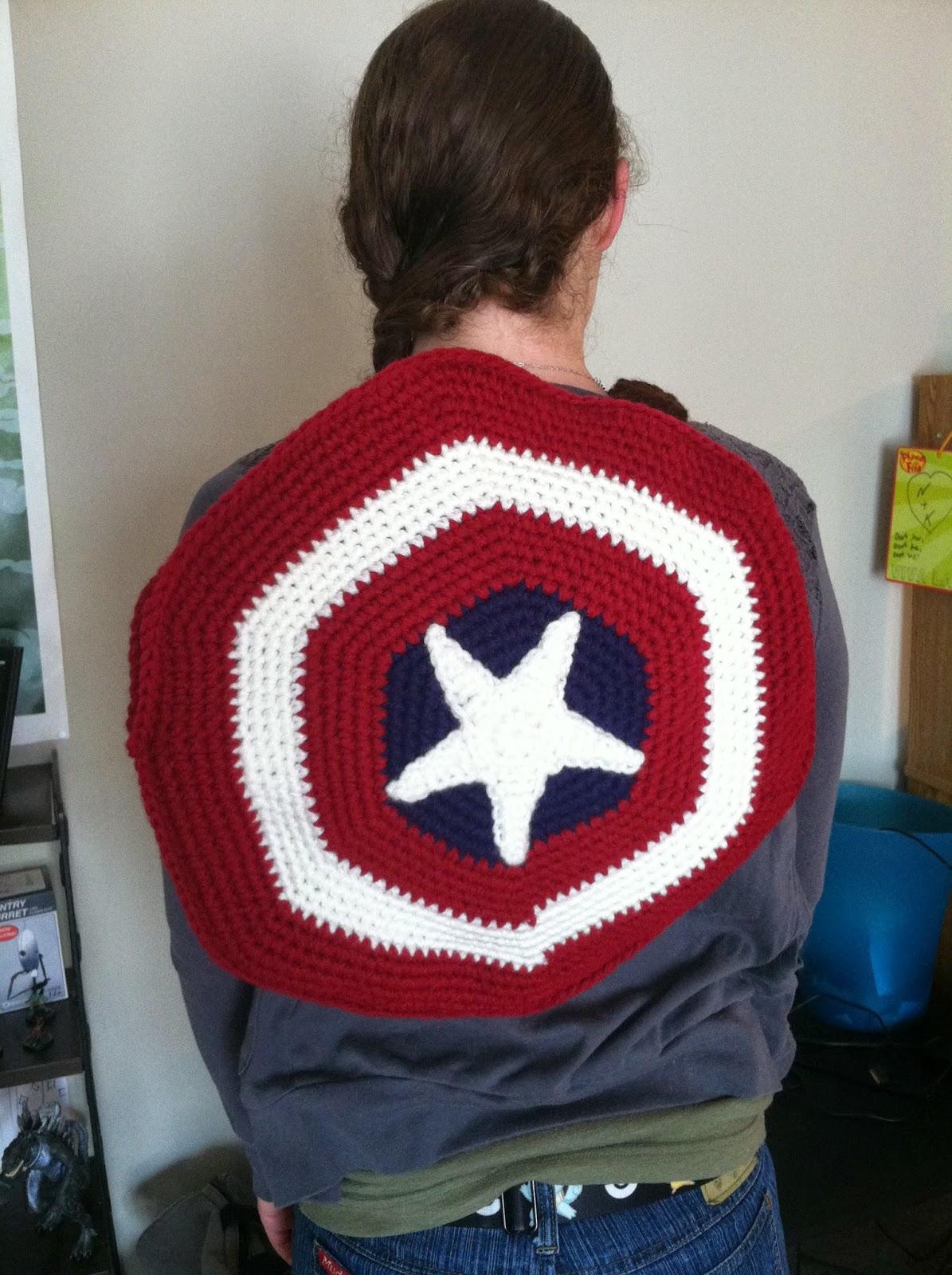 Heart in Flight Crochet: Captain America Shield backpack/toy/pillow