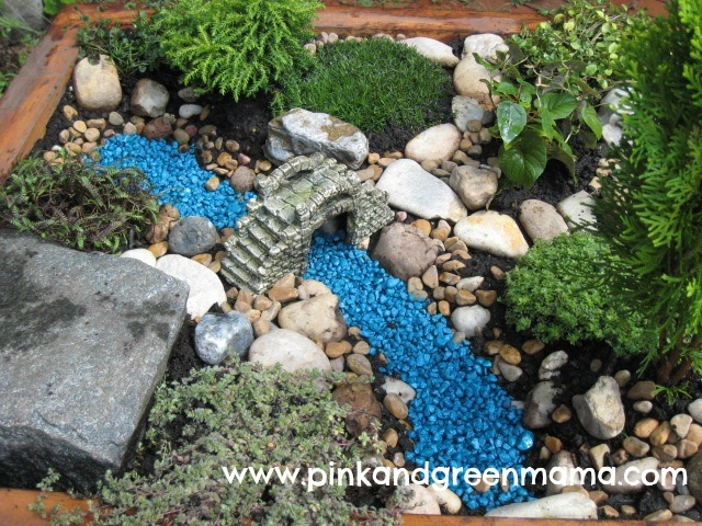 Pink and green mama diy backyard makeover on a budget with help from hgtvgardens - Fairy garden containers for sale ...