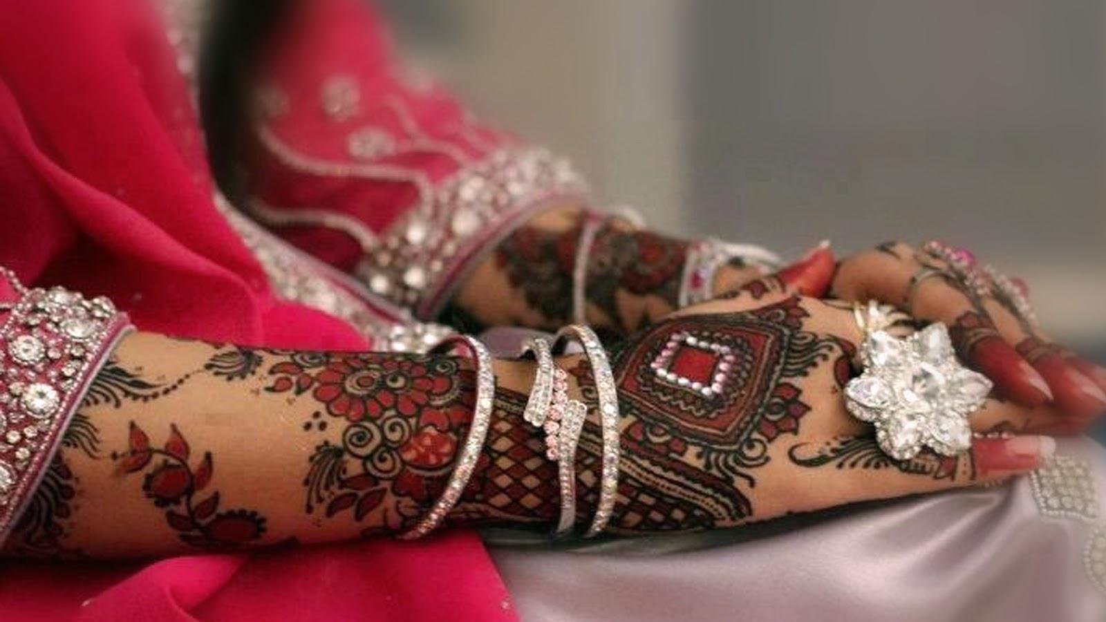 New Stylish Bridal Mehandi Design Hd Desktop Wallpapers Download For