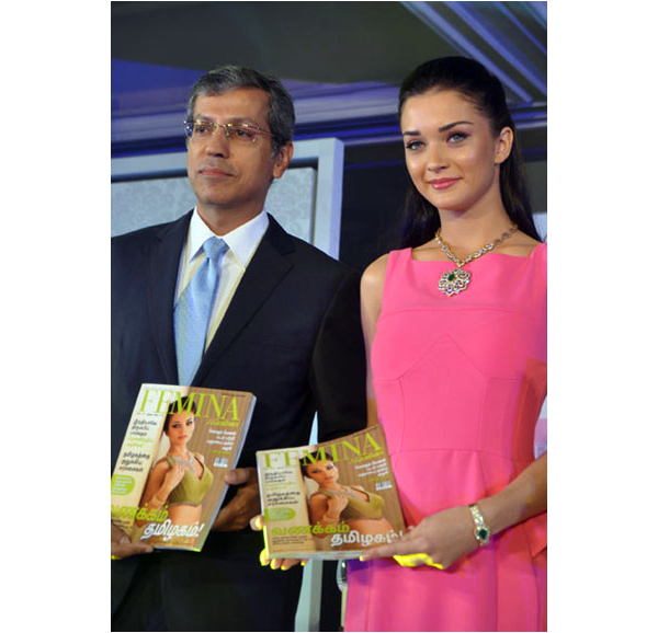 amy jackson launches femina anniversary issue actress pics