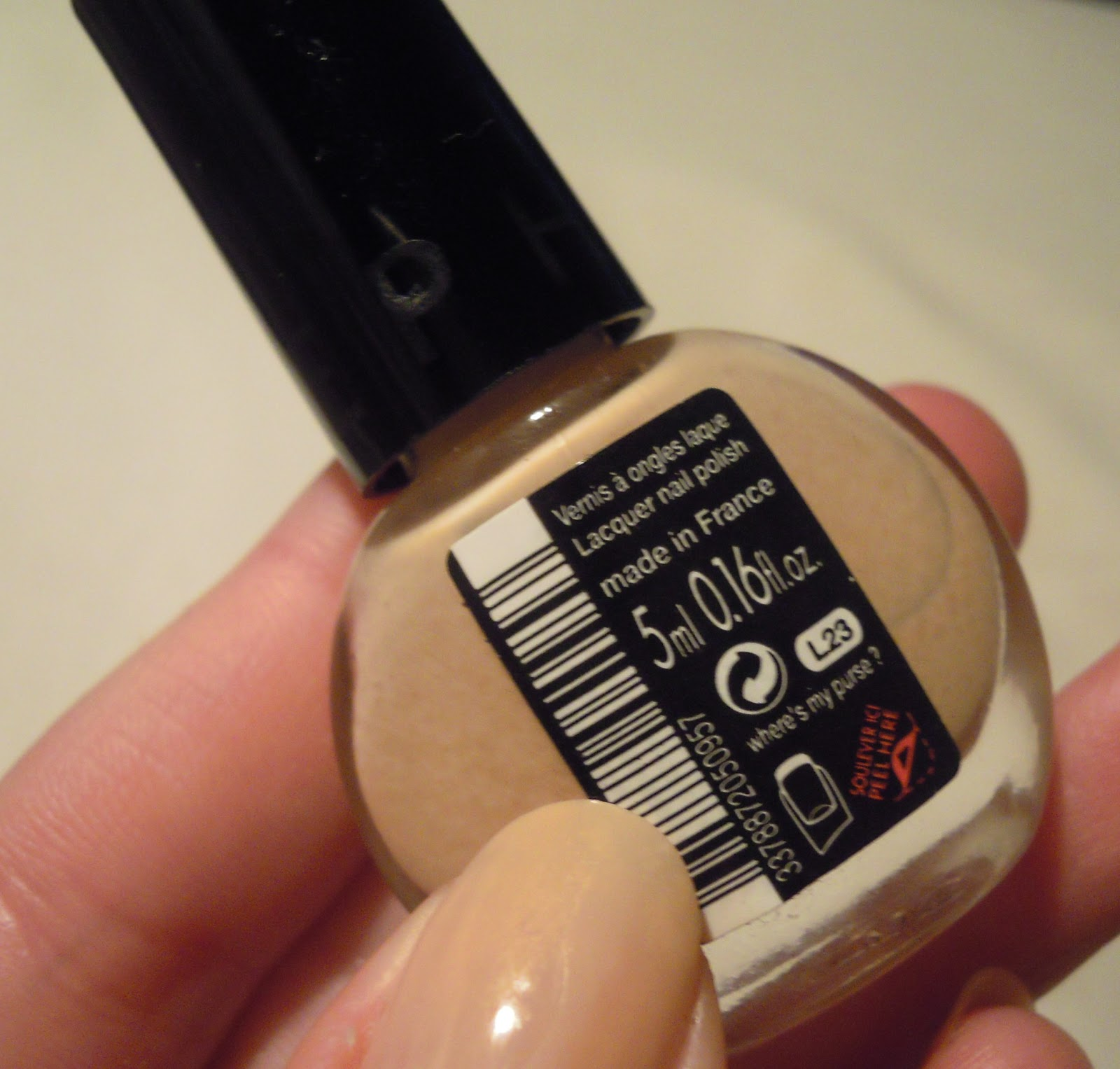 Sephora nail varnish bottle where's my purse?
