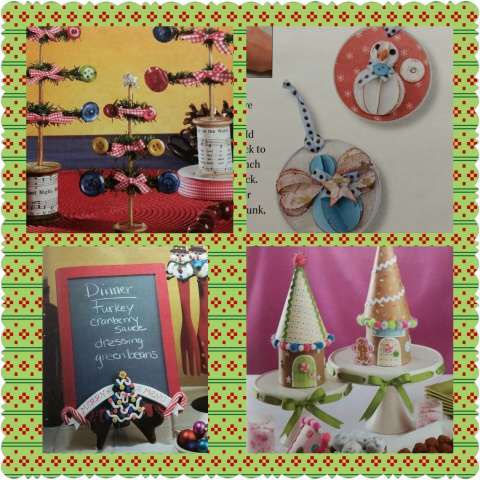 christmas crafts and food craft collage