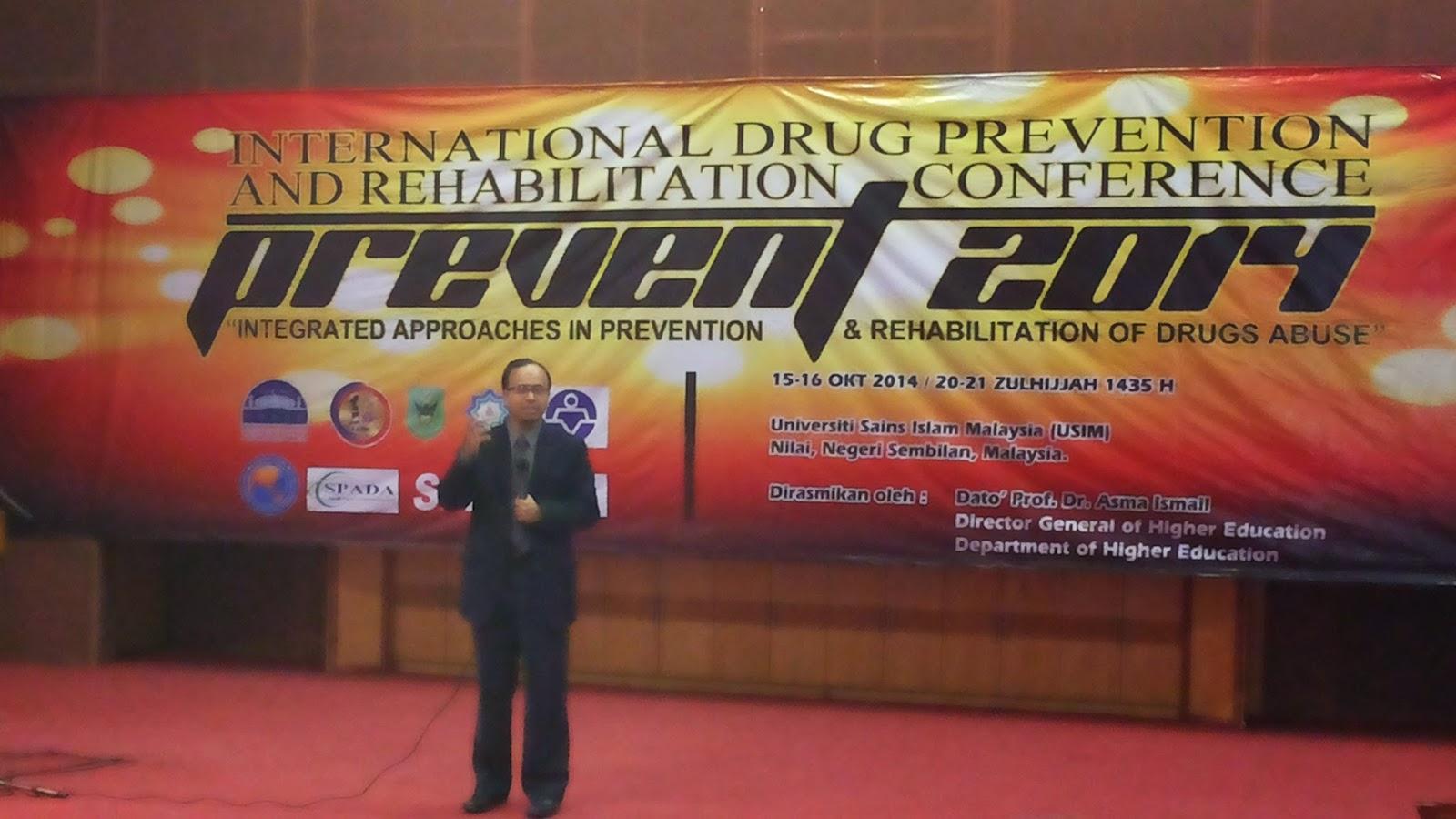 PREVENT 2014, seminar dadah, Associate Professor Dr. Mohd Rushdan b. Mohd Jailani, ACREDA