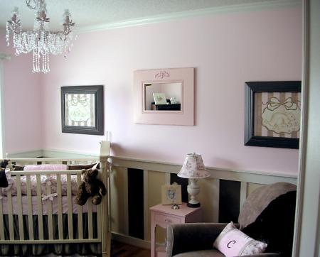 Habitaciones de beb en chocolate y rosa dormitorios con estilo - Attractive images of black and white baby nursery room decorating design ideas ...