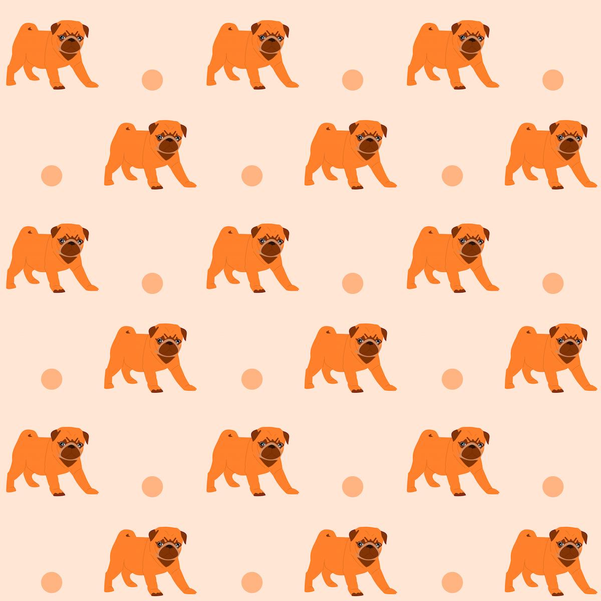 Free Digital Pug Scrapbooking Paper Ausdruckbares
