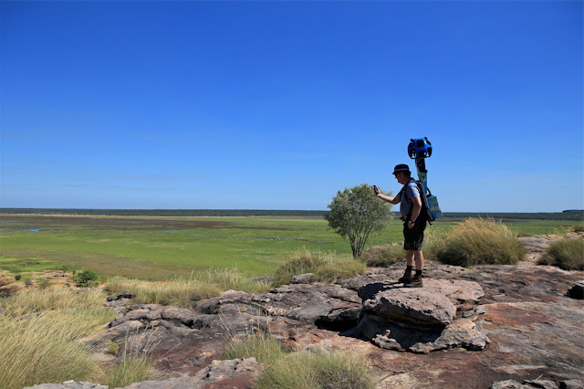 A Google Maps Trekker takes photos of the Northern Territory of Australia.