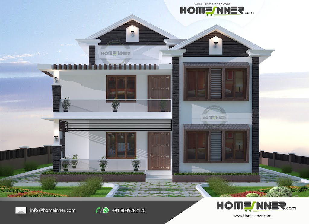 Simple and beautiful small budget 3 bhk 1488 sqft kerala for Home plans architect