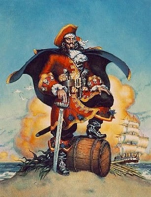 kapten bajak laut Henry Morgan oleh segiempat