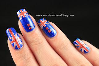 union jack nail art