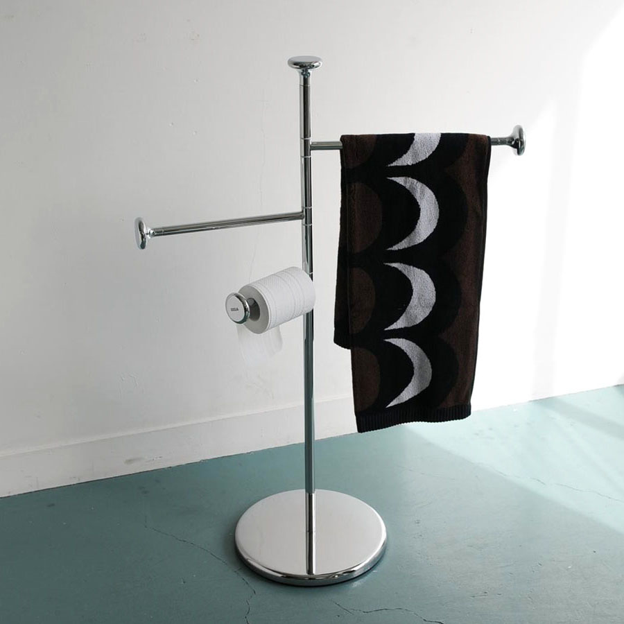 Silver Free Standing Floor 3 Tier Towel Rail Rack With