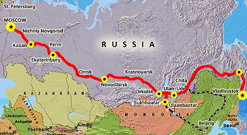 Baikal Amoer Express Route