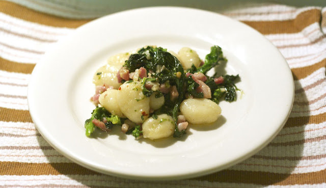 Broccoli Rabe Pancetta and Gnocchi: simplelivingeating.com