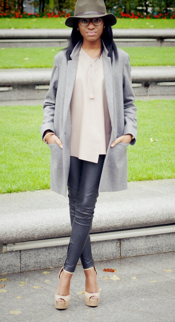 Nia A fashion blogger in KG Dizzy heels and cos wool long blazer