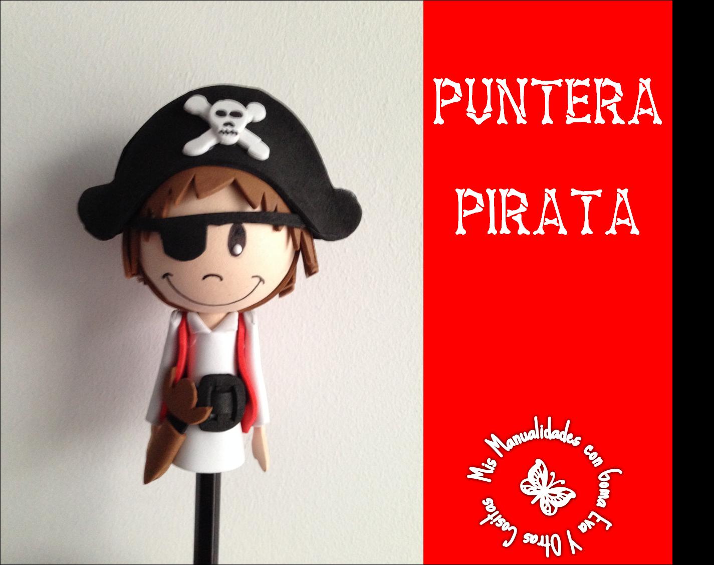 Mis manualidades con goma eva y otras cositas lapicero pirata - Adornos para lapices en goma eva ...