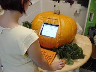 funny pumpkin computer