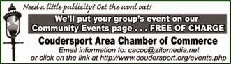List your event on Coudersport Chamber