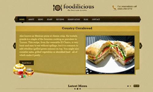 Foodilicious Templatic Wordpress Theme Version 1.0.4 free