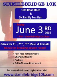 10k & 5k in Sixmilebrdge, Co.Clare...Fri 3rd June 2016