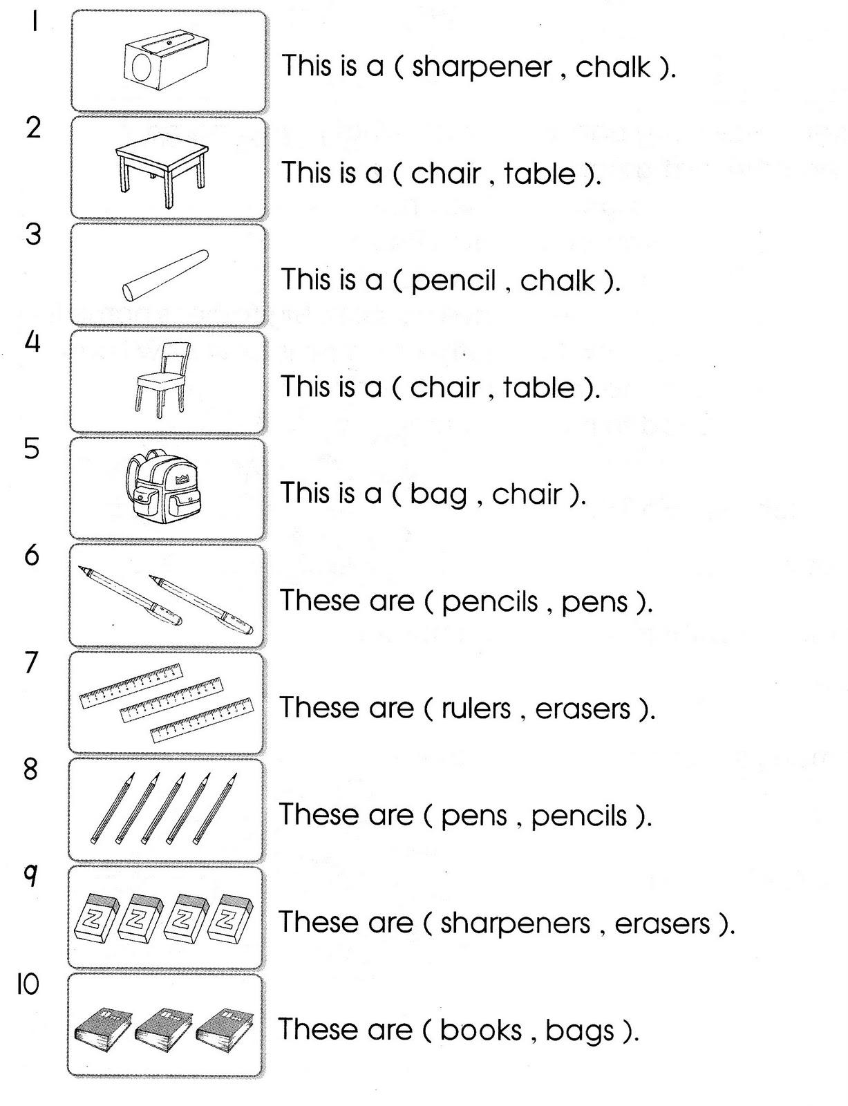 Blog Foonglengwong Worksheet Topic 2 My School Things In My