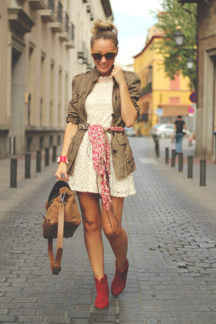 My Showroom, Lace dress, buylevard, zara, pilar burgos, boots, parka, street style, outfit, Autumn 12,