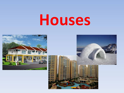 Flash cards types of houses for Different kinds of houses
