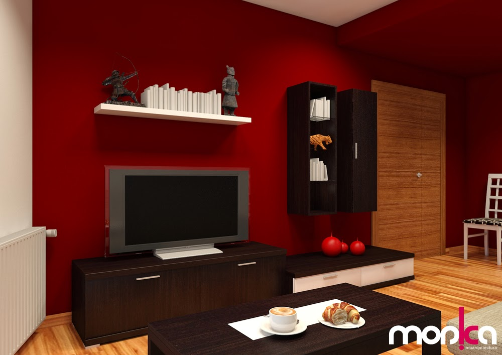 Monica infoarquitectura infograf as comedor sal n - Color paredes comedor ...