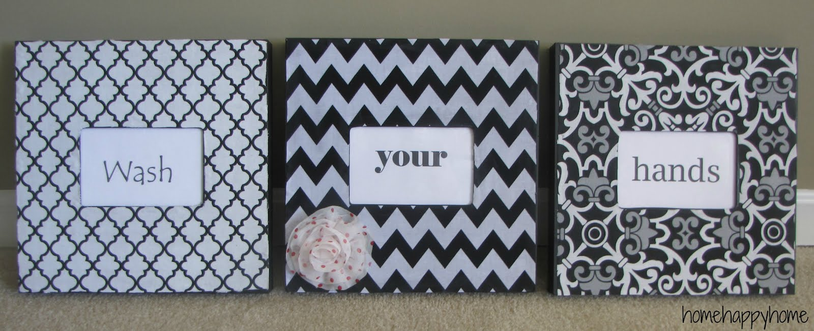 home happy home: Fabric covered frames
