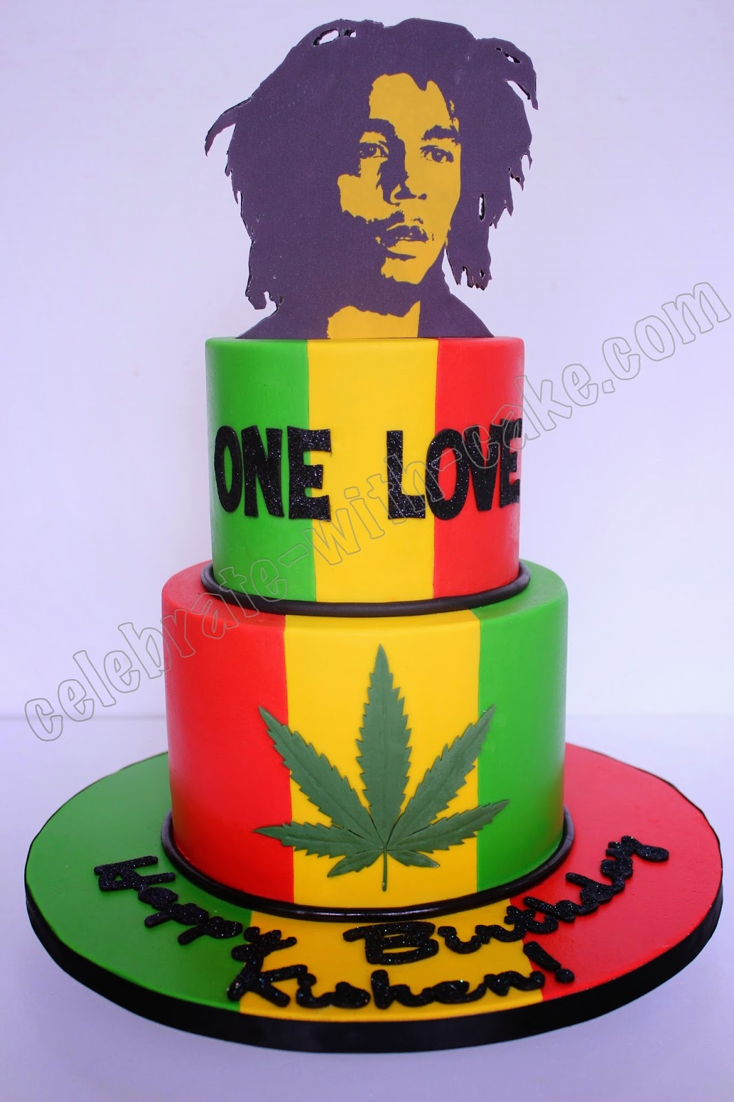 Celebrate With Cake Bob Marley 2 Tiers