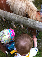 Meeting a Pony at Farmer Palmers