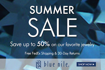 blue nile 50 percent off sale on jewelry