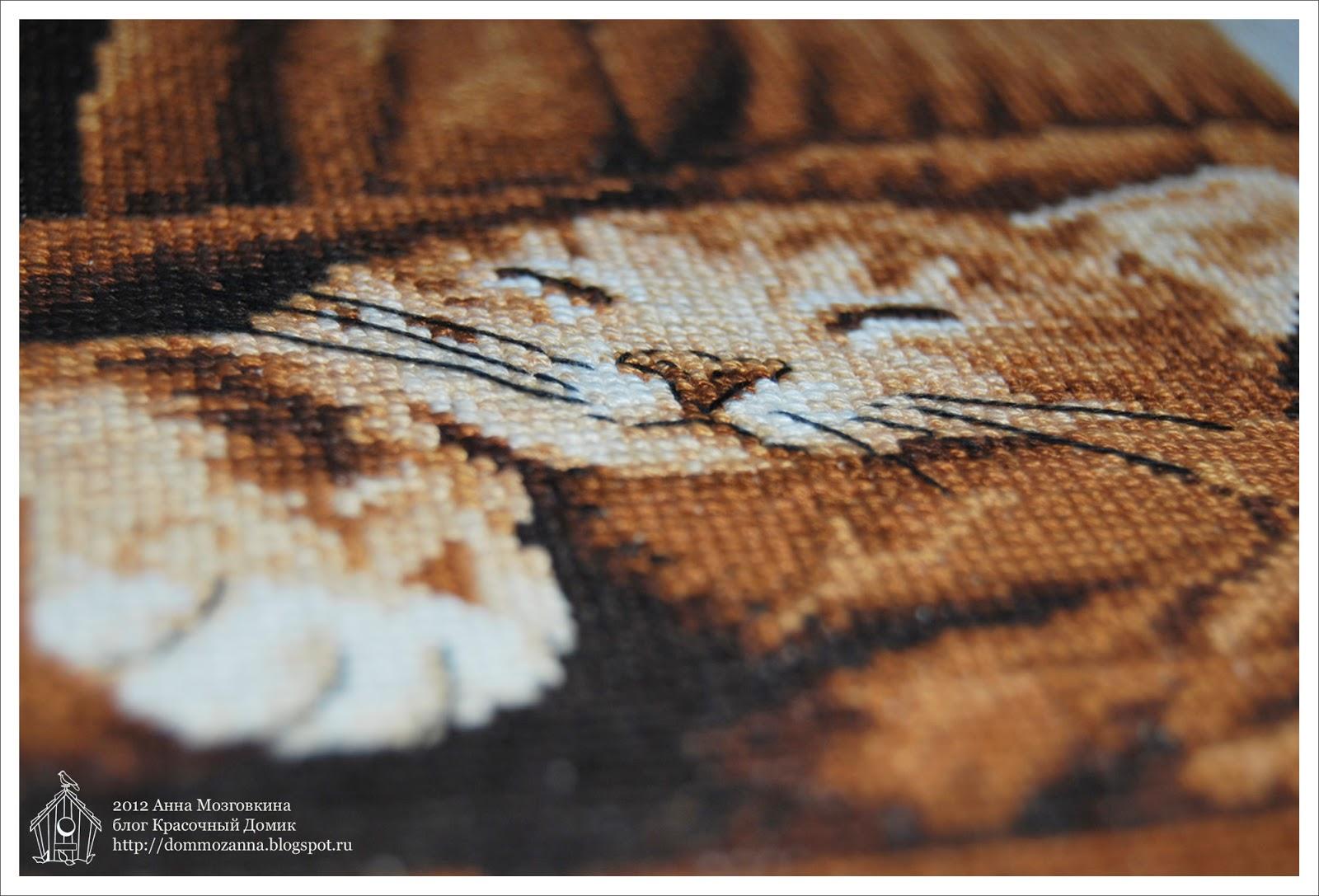 Спящий котенок (Sleepy) DMC вышивка крестом