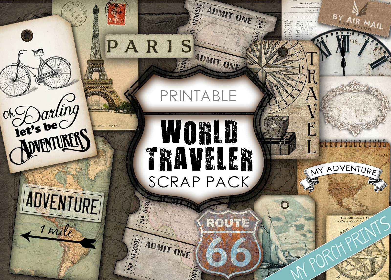 World Traveler Scrap Pack