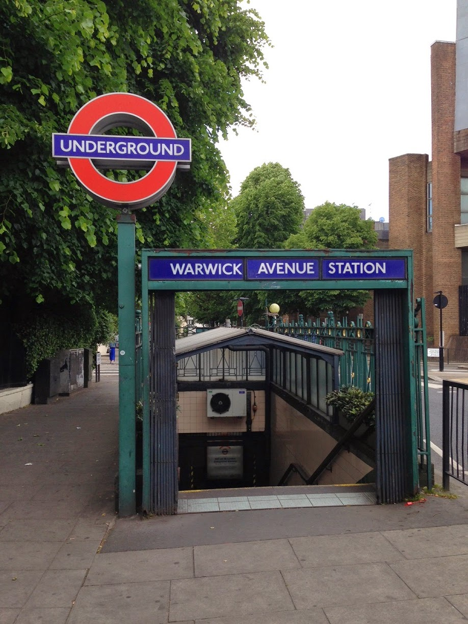 Entrance to Warwick Avenue tube station, London