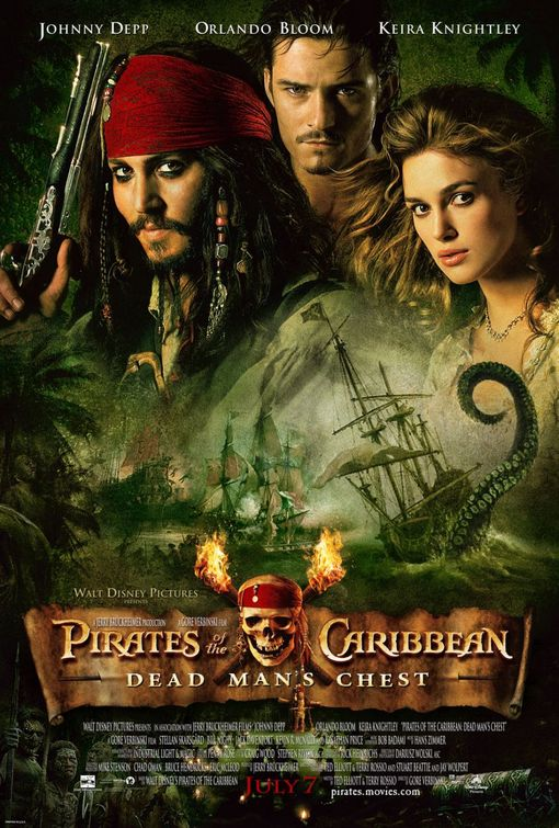 Pirates Caribbean Dead Mans Chest movie poster