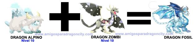 como hacer el dragon fosil en dragon city combinacion 1