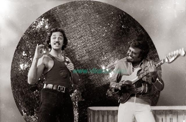 'Thalaivar' Rajinikanth & Kamalhaasan in 'Ninaithale inikkum' Movie