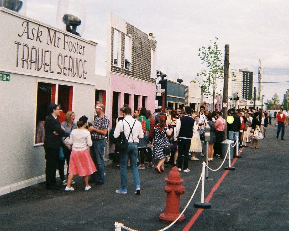 Shops at the town square, Back to the Future Secret Cinema