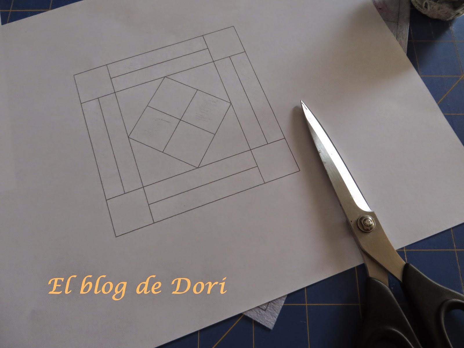 El blog de Dori: Un bloque de paper piecing paso a paso