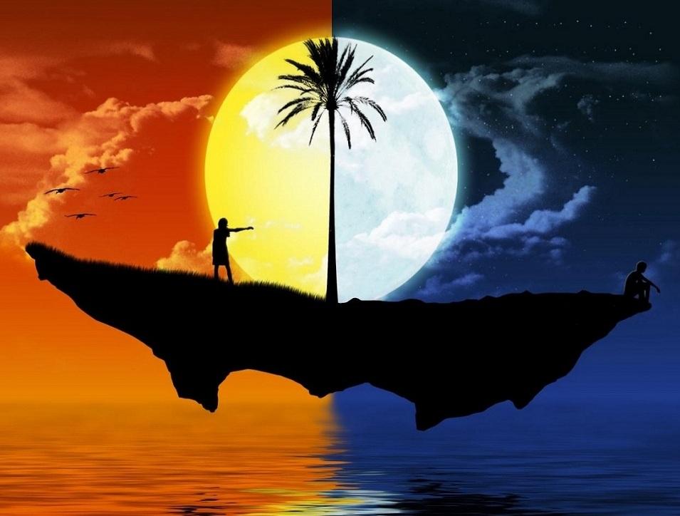 A la luz de la luna. Paisajes-de-sol-y-luna
